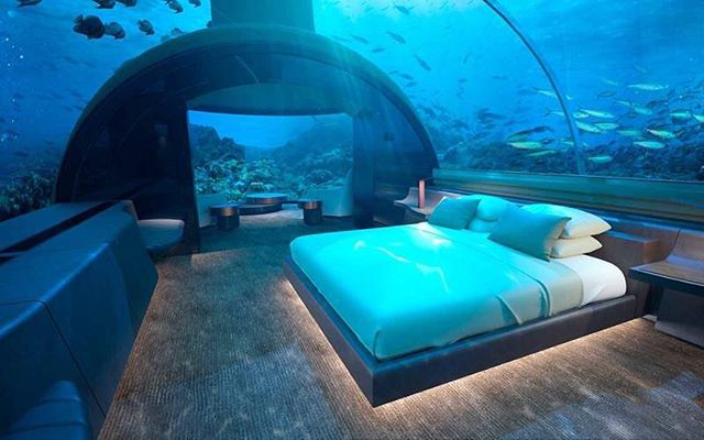 Overwater villas are so yesterday! The @conrad_maldives just announced Muraka, their new bi-level undersea residence located 16ft below the ocean's surface. Set to open in November, Muraka will feature a gym, Butler's quarters, kitchen, bar and more. Would you sleep with the fishes? #luxelifeadventures #liveadventurously #traveltuesday #muraka