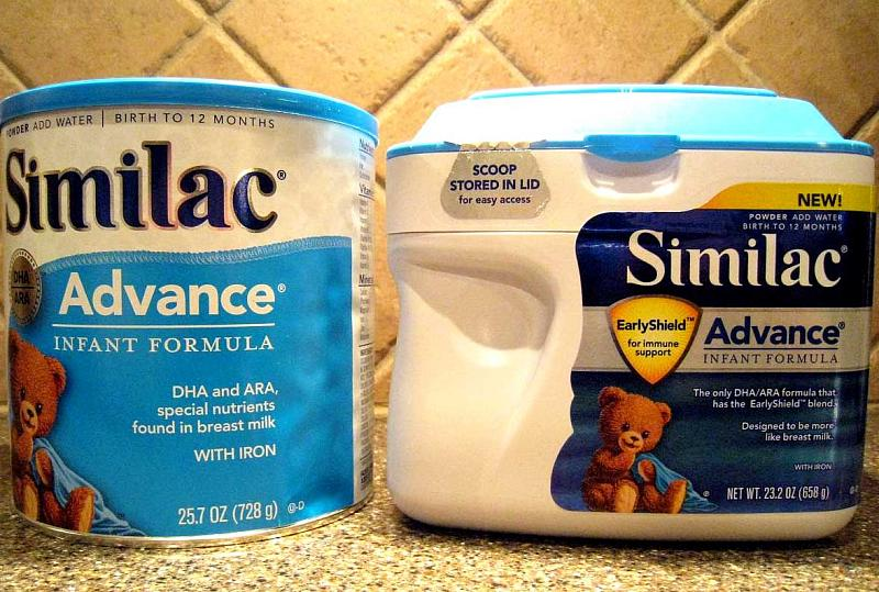 Similac advance baby formula containers will likely be adorned with GMO free labels now. Photo from linked article.