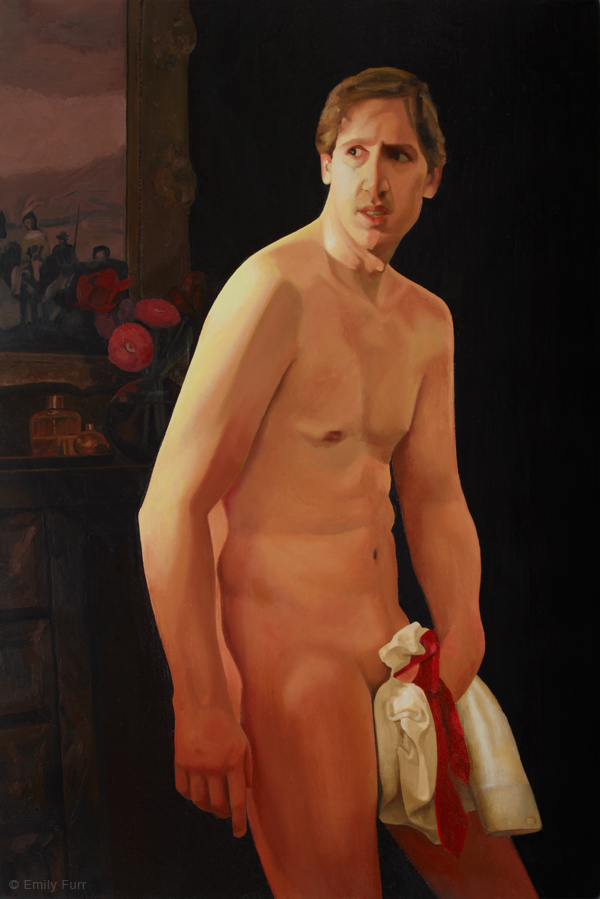Caught,  2009 Oil on linen 24 x 36 in