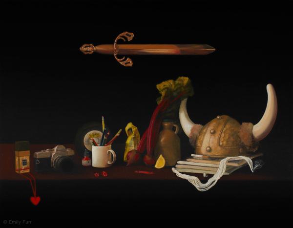 Vanitas: Susan Norton,  2011 Oil on board 18 x 14 in