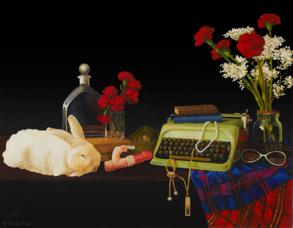 Vanitas: Jacqueline de Scudery,    2012 Oil on board 18 x 14 in