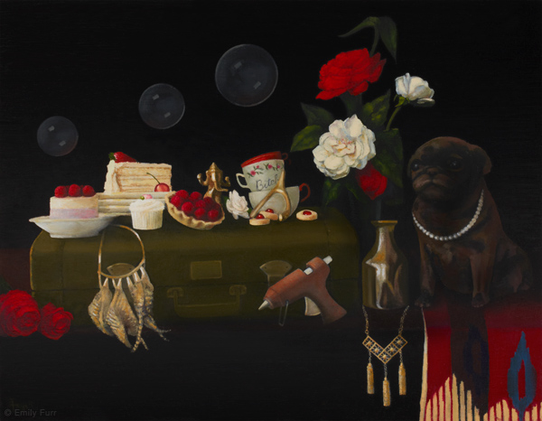 Vanitas: Tiziana Agnello,  2011 Oil on board 18 x 14 in