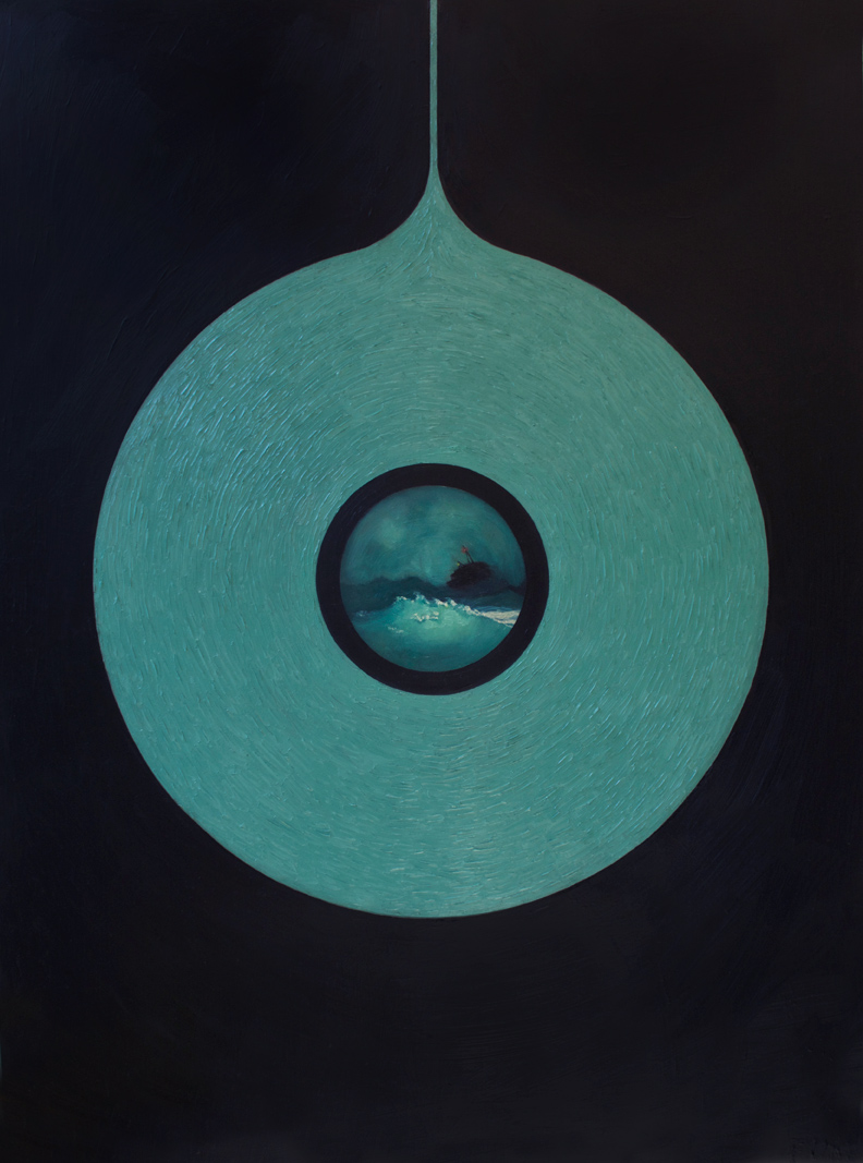 Waves , 2015 Oil on board 36 x 48 in