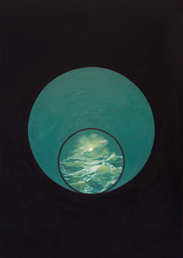 Sea in Circle , 2014 Oil on linen 9 x 12 in