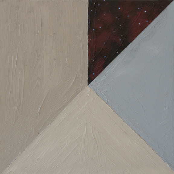 Star Slice 1,  2015 Oil on canvas 8 x 8 in