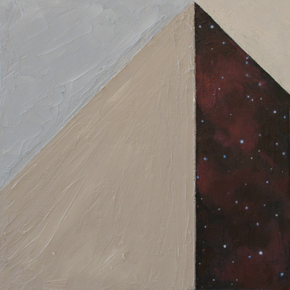 Star Slice 3 , 2015 Oil on canvas 8 x 8 in