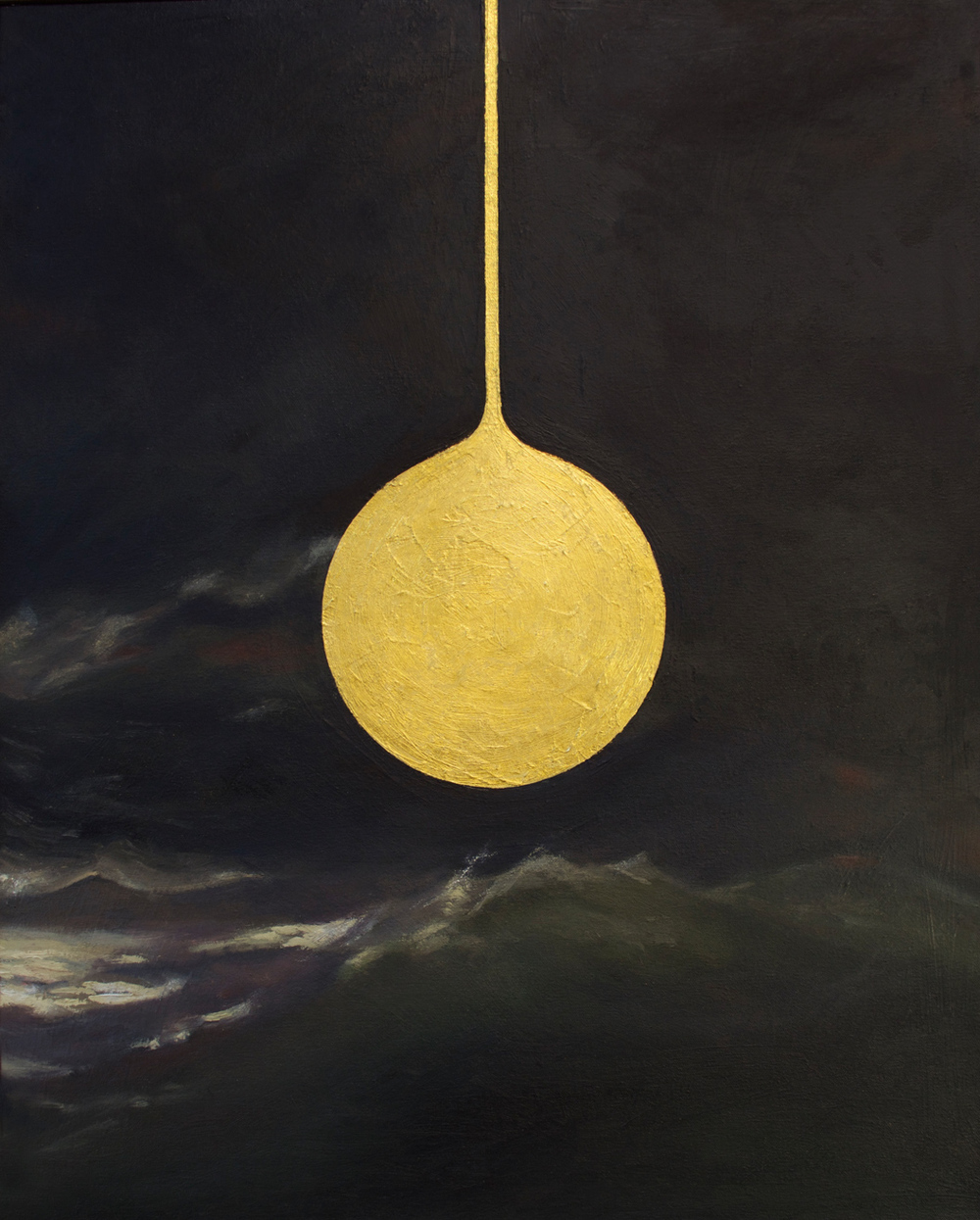 Gold Drop , 2015 Oil and 24k gold leaf on canvas 24 x 30 in