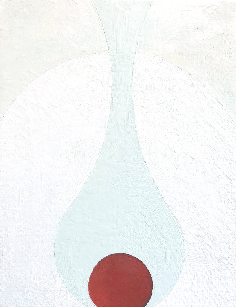 Red Drip , 2016 Oil on linen board 9 x 12 in