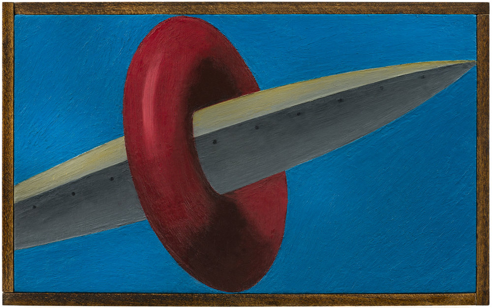 Hole Glory , 2018 Oil on board, wood frame 10.5 x 6.5 in