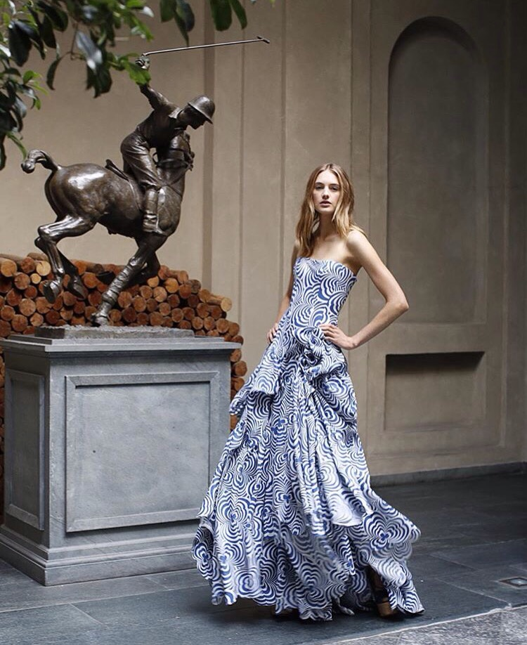 Sanne Vloet revel photo for the press debut of the Ralph Lauren Palazzo Concept Store in Milan