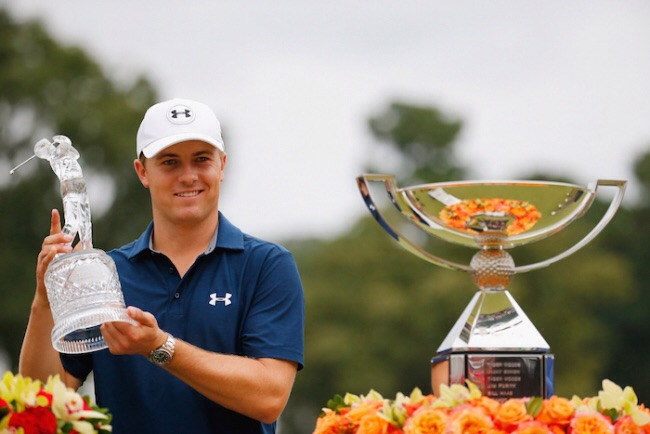 "Jordan Spieth became th youngest and first ""$22 Million Man"" in golf at 22 years old with his win at the 2015 Tour Championship!"