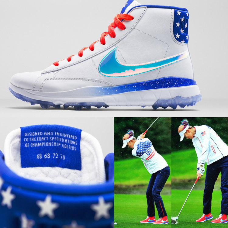 Michelle Wie debuts the Nike Blazers at the 2015 Solheim Cup 519789451