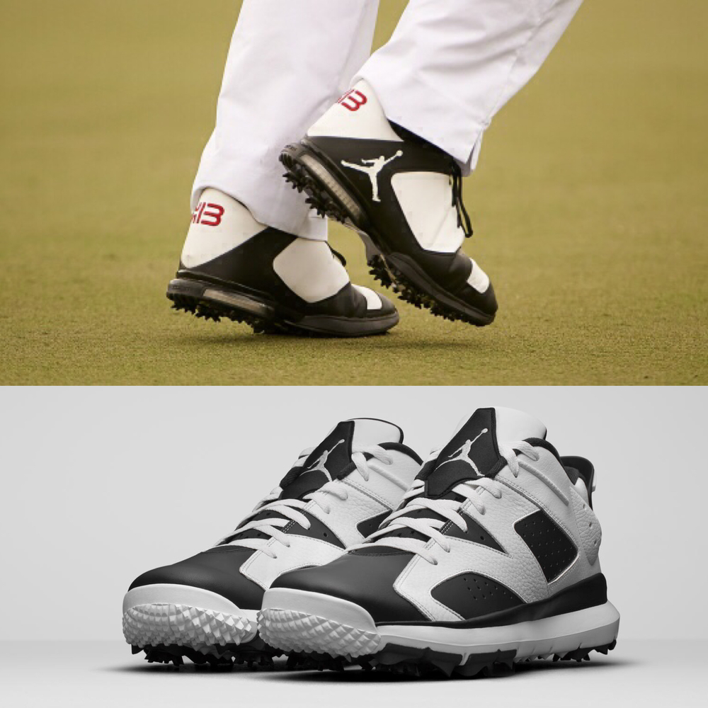 The Air Jordan 6 Golf Shoes have a similar style to the exclusive KB golf shoe searies, designed to resemble the original Air Jordan basketball sneakers