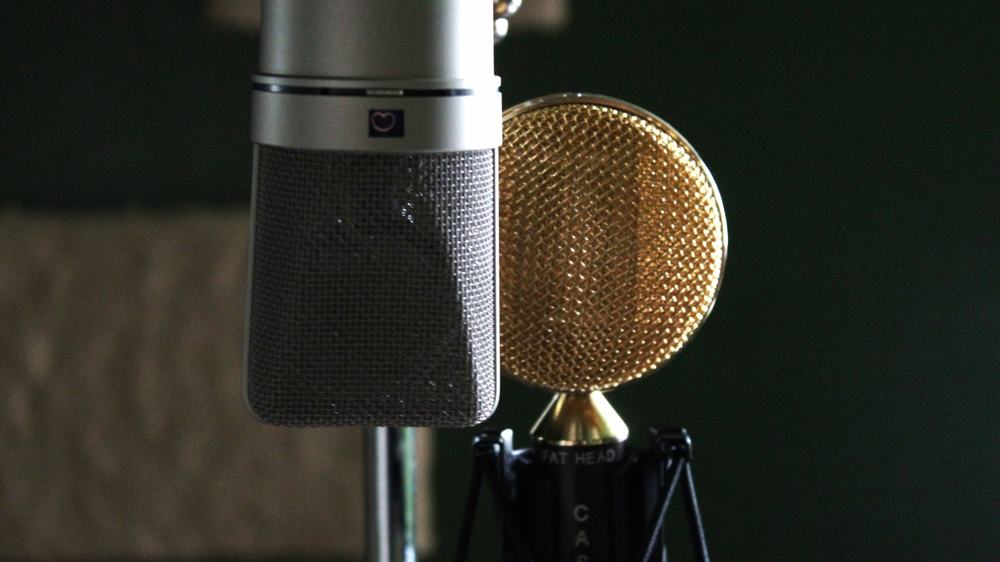 Ahh a Neumann Microphone, next to this Cascade Ribbon Mic.