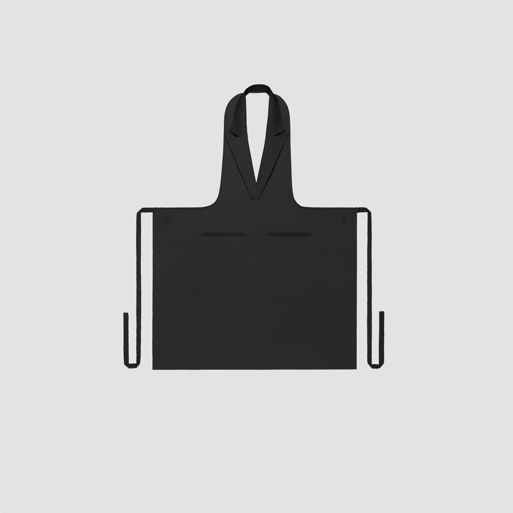Unisex Formal Collar Apron in black