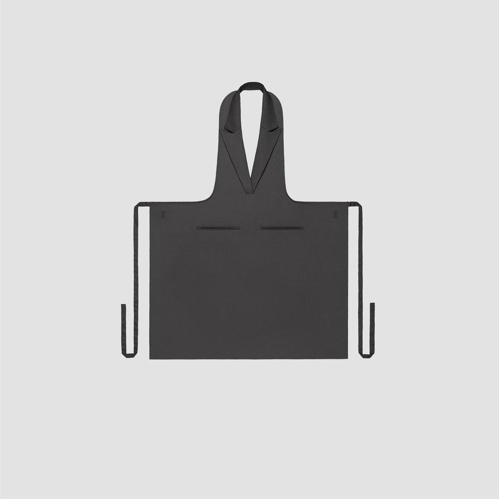 Unisex Formal Collar Apron in dark grey