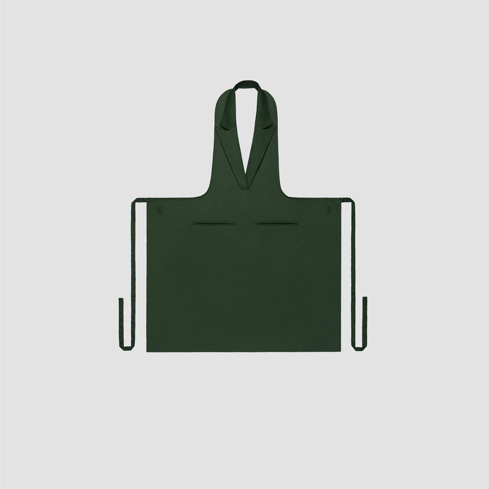 Unisex Formal Collar Apron in green