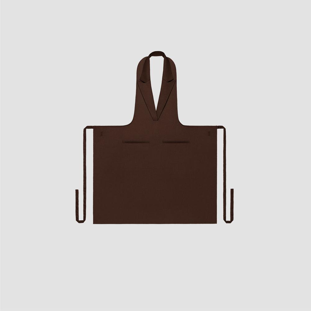 Unisex Formal Collar Apron in brown