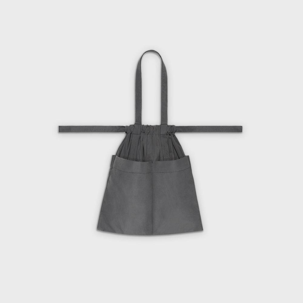 Drawstring bag M in grey