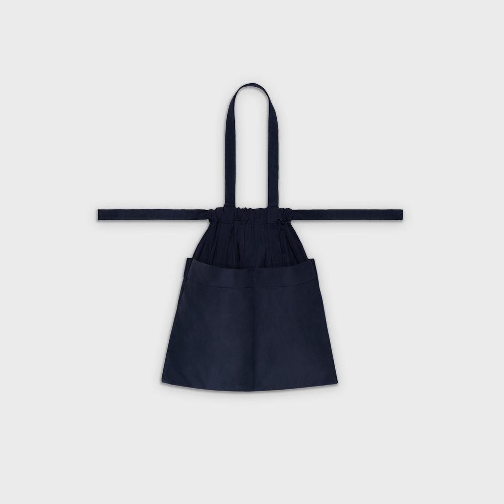 Drawstring bag M in navy