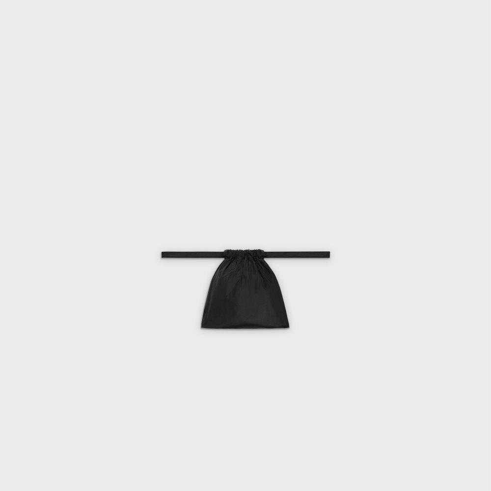 Multi-purpose drawstring bag XS in black