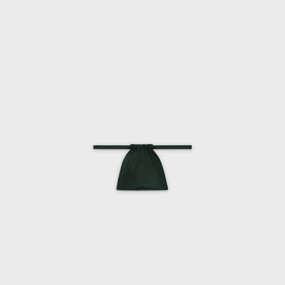 Multi-purpose drawstring bag XS in green