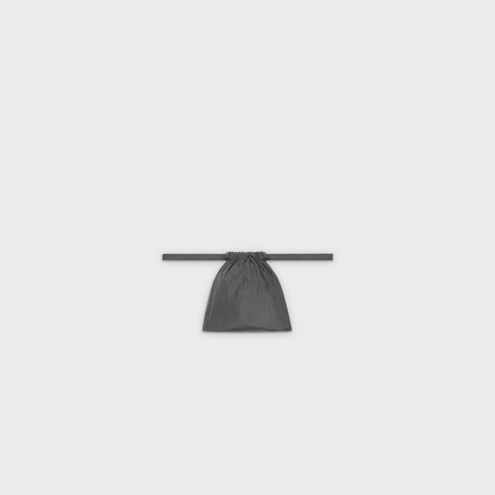 Multi-purpose drawstring bag XS in grey