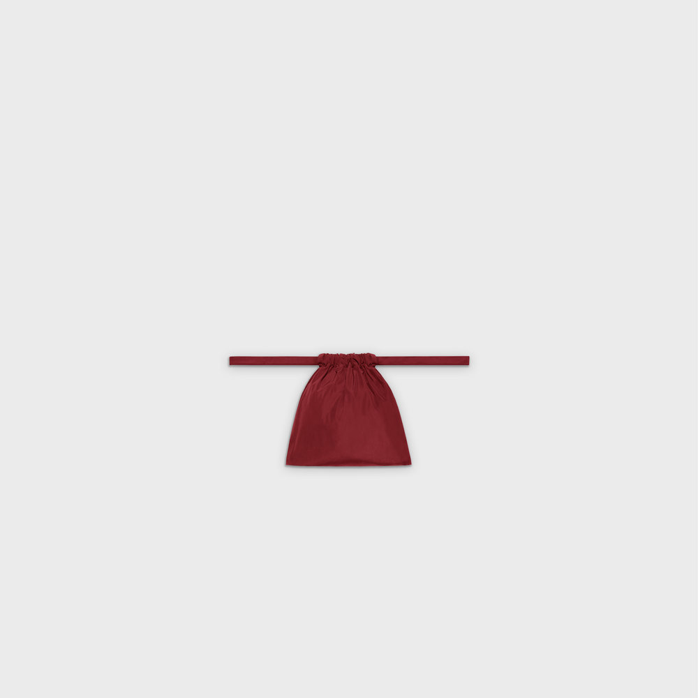 Multi-purpose drawstring bag XS in red