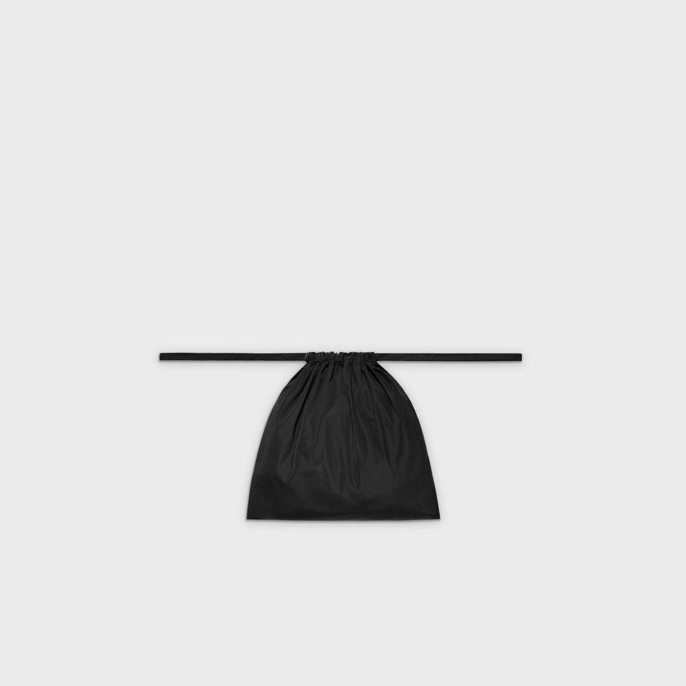 Multi-purpose drawstring bag S in black