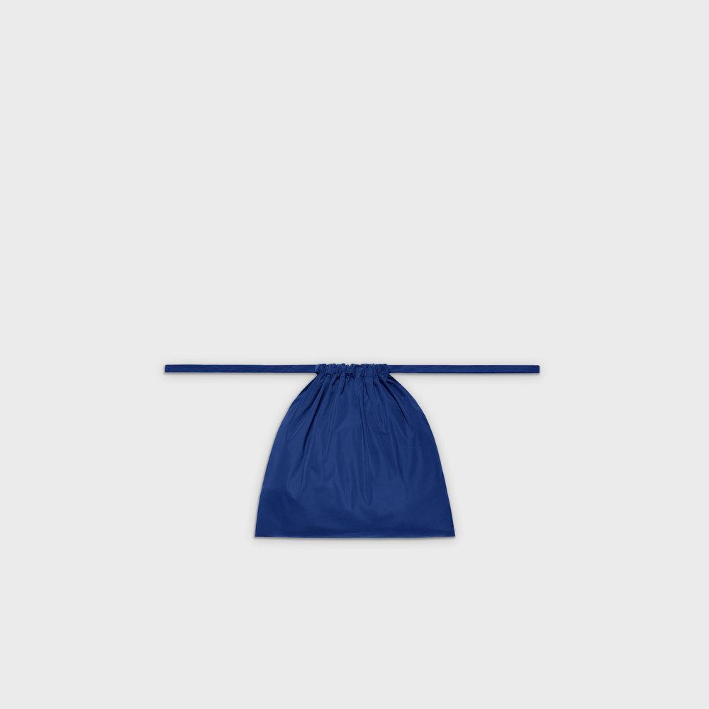 Multi-purpose drawstring bag S in blue