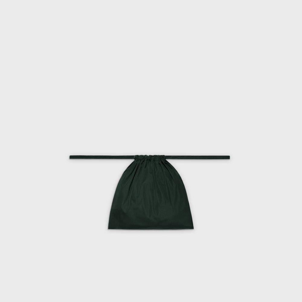 Multi-purpose drawstring bag S in green