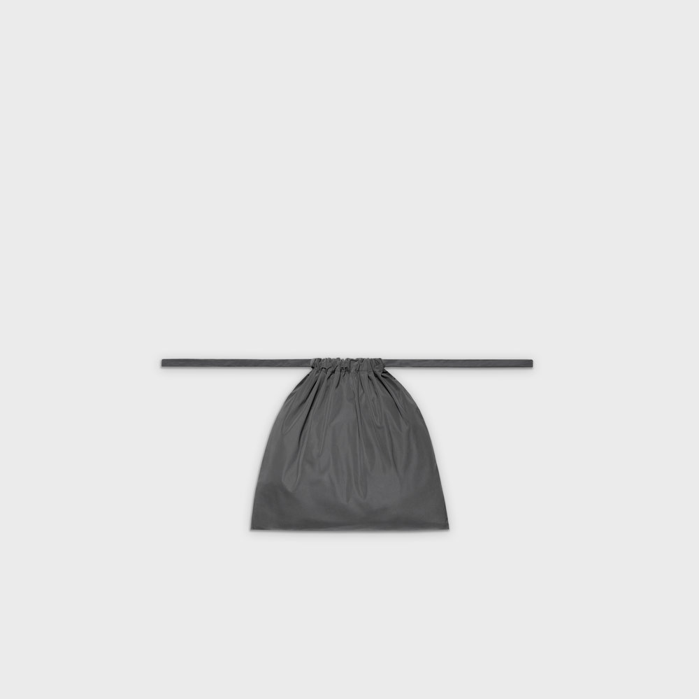Multi-purpose drawstring bag S in grey