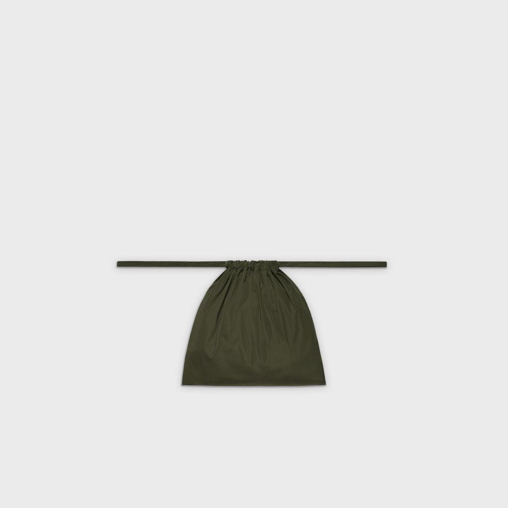 Multi-purpose drawstring bag S in khaki