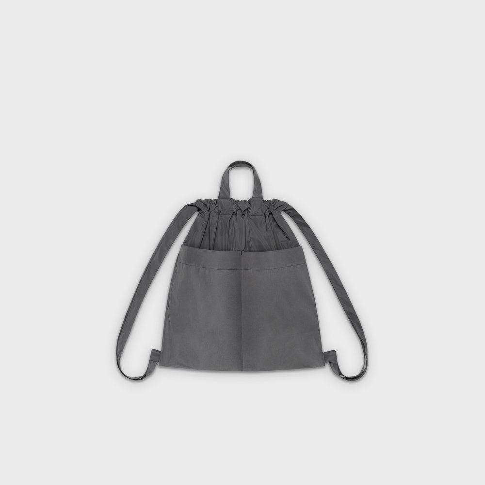 Day-Curious Drawstring Backpack M in grey