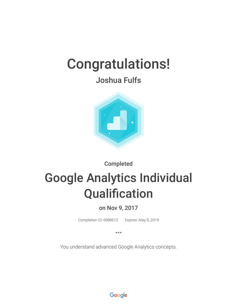 Google Analytics Individual Qualification_ Academy for Ads_Joshua Fulfs.jpg