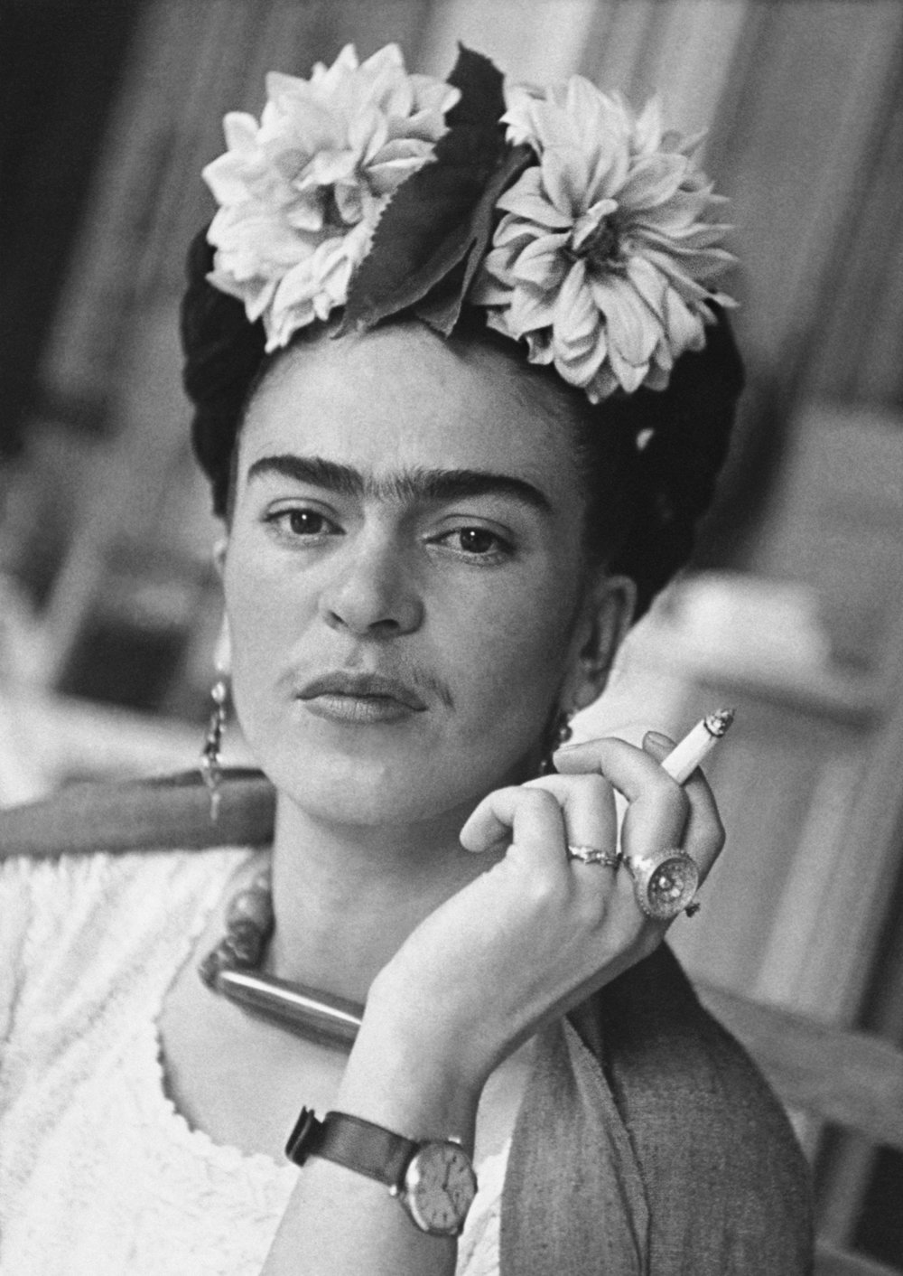 Nickolas Muray (1892-1965)  Frida in the dining area, Coyoacán,  1941 archival pigment inkjet print ©Nickolas Muray Photo Archives courtesy of Etherton Gallery