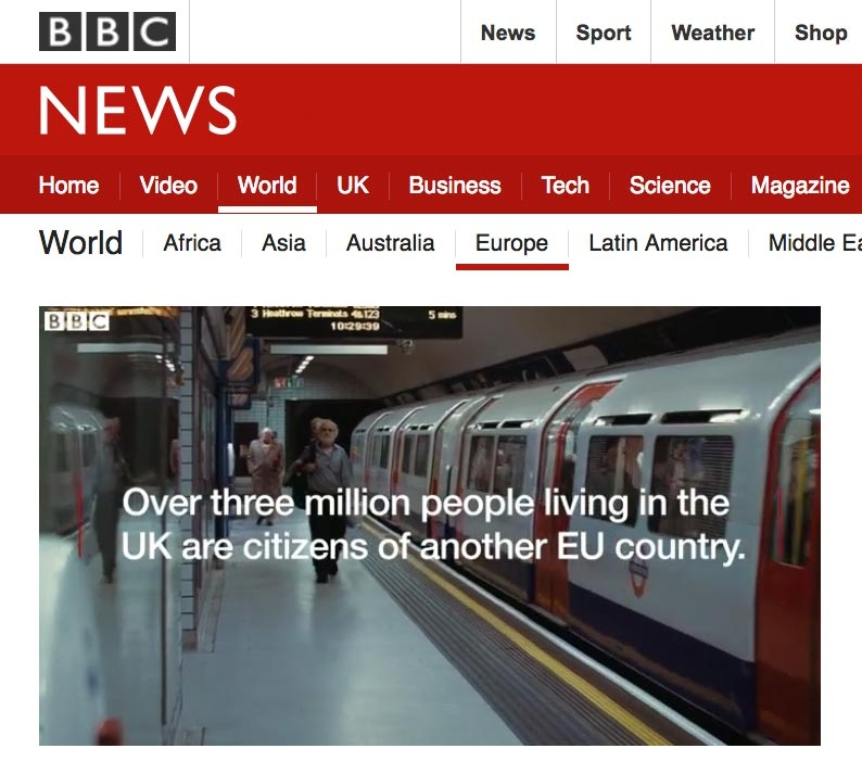 "BBC News used  parts of my film "" The London Feeling "", which is licensed under  CC BY 3.0"