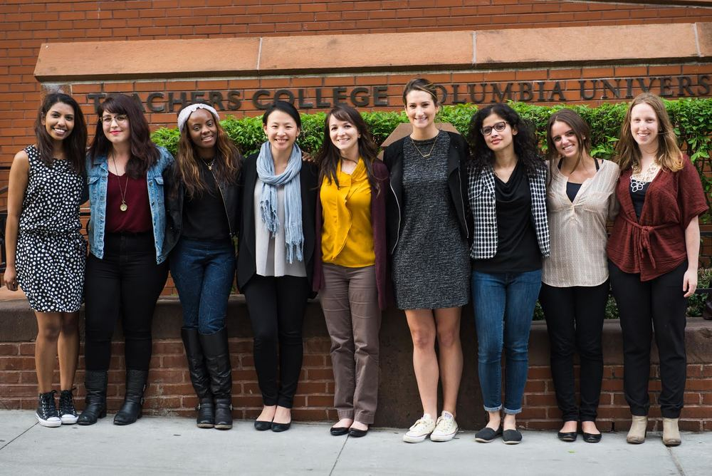 LCDS, Fall 2015 - Spring 2016 From Left to Right-Hamidah, Laura, Theresa, Christine, Katherine, Olivia, Priyata, Kayla, Elizabeth (Missing: Eleonora, Kelly, Alana, Jann). May 9, 2016. Photo credit: Dustin Saldarriaga