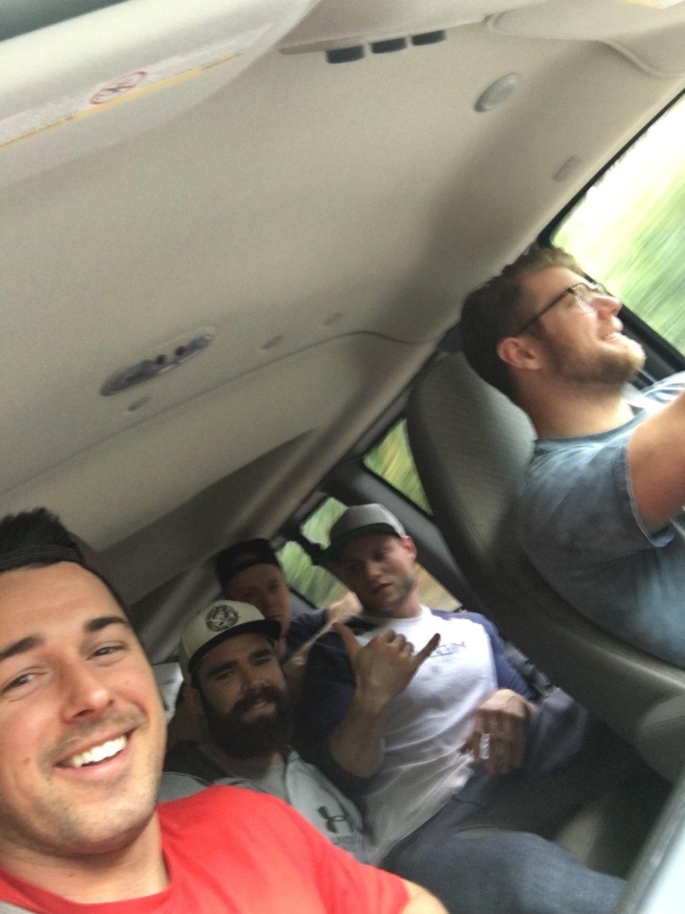Team Polo cruising back to Calgary from Whistler.