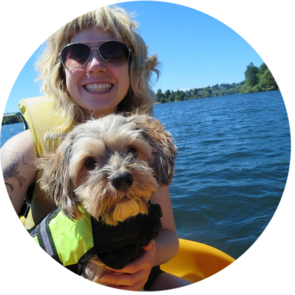 Me and my dog, Merlin, paddle boating at Greenlake, Seattle. Photo by Jessika Skipsnes.