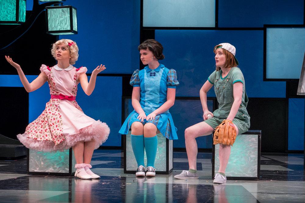Raegan Roberts (Sally), Maggie Bera (Lucy) and Adria Swan (Patty)