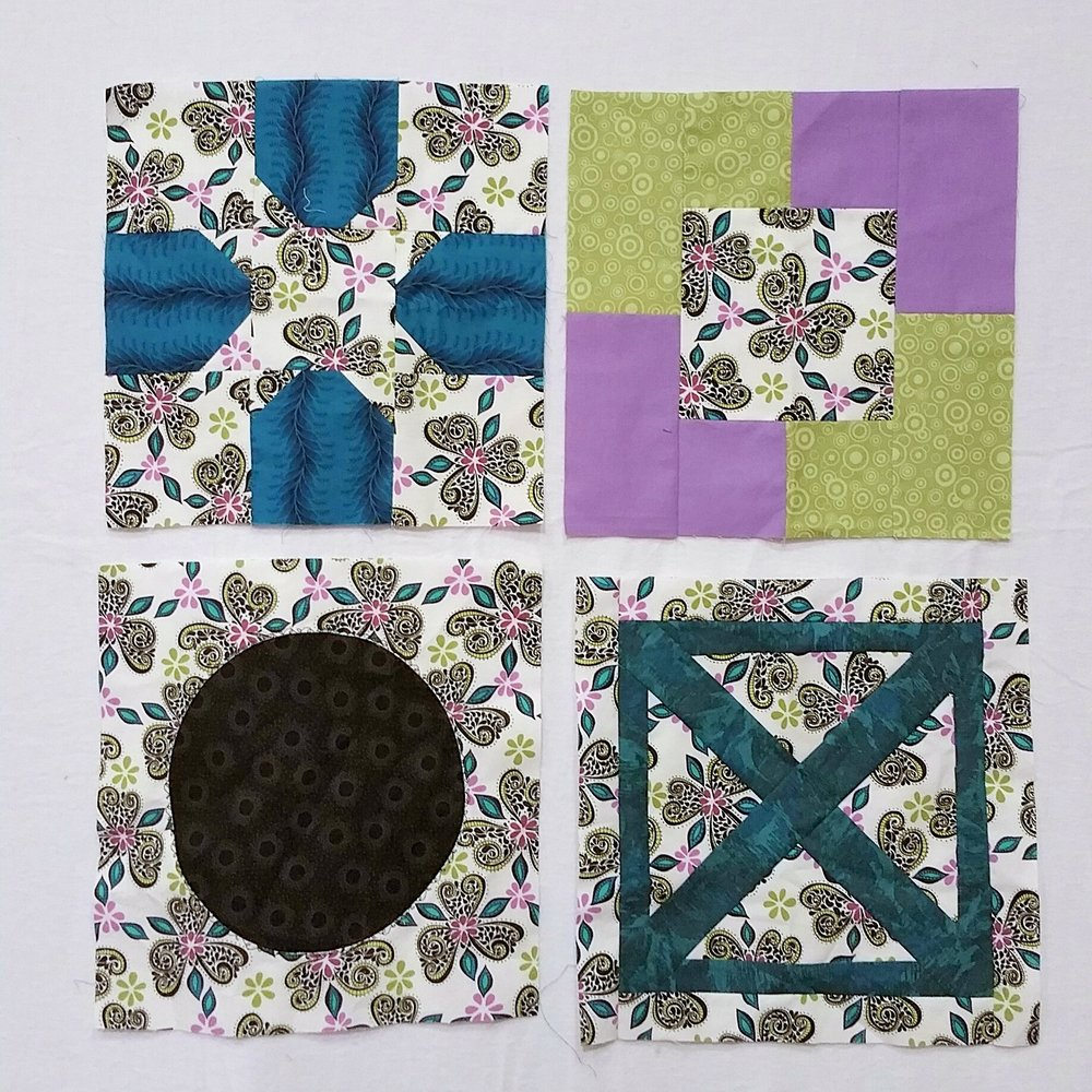 Sharon's block of the month samples for inspiration - have fun!