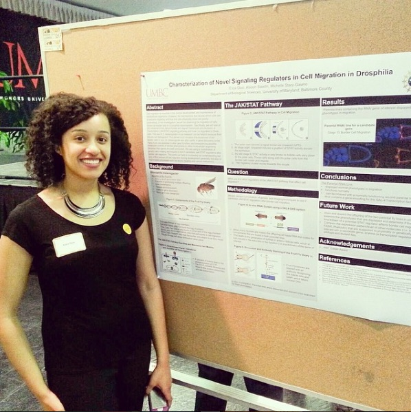 Presenting at UMBC's Annual Undergraduate Research and Creative Achievement Day, 2014.