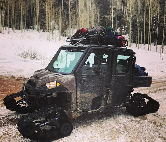 Getting stuff up to the cabin just got a lot easier for us.  #smithcabinaspen #polarisranger #yakimaracks
