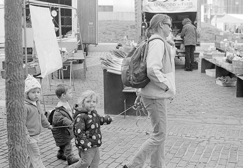 Children at Farmer's Market