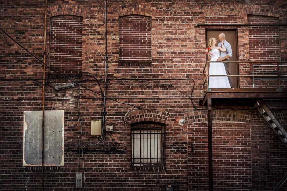 Sumner Washington Wedding, Brick Fire Escape