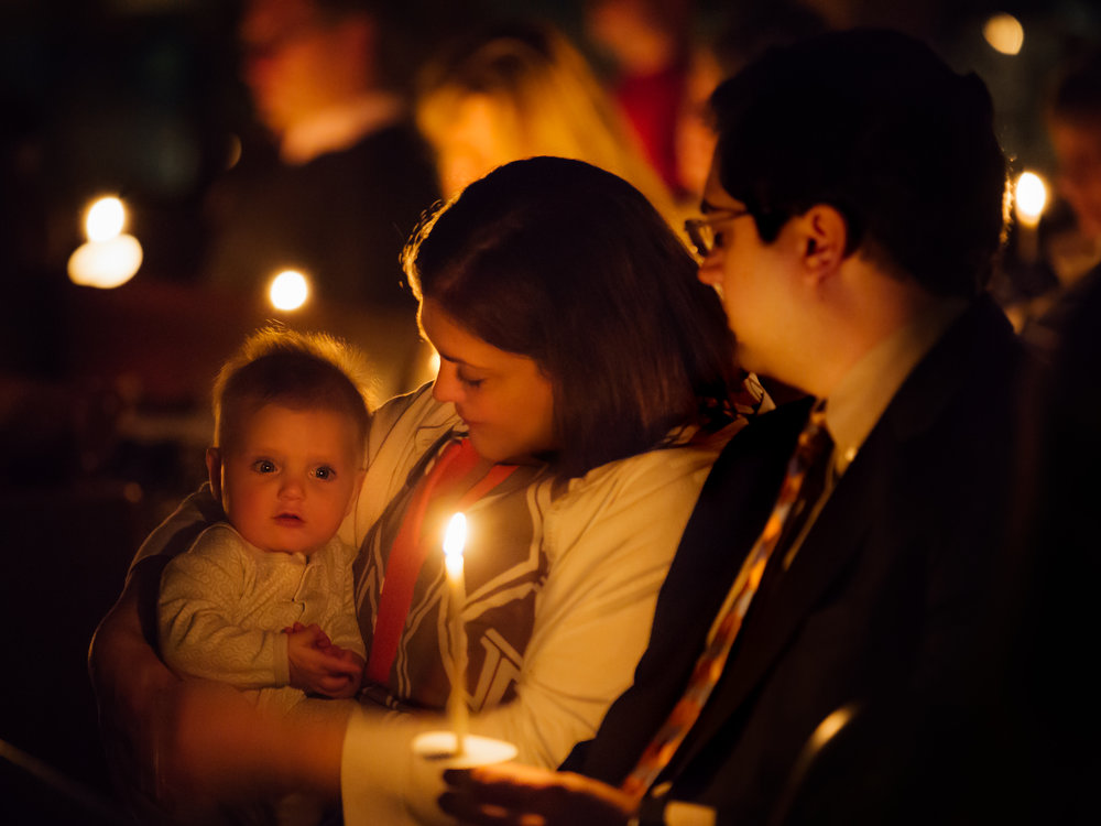 Seattle, St. Paul's Episcopal Church with candle light