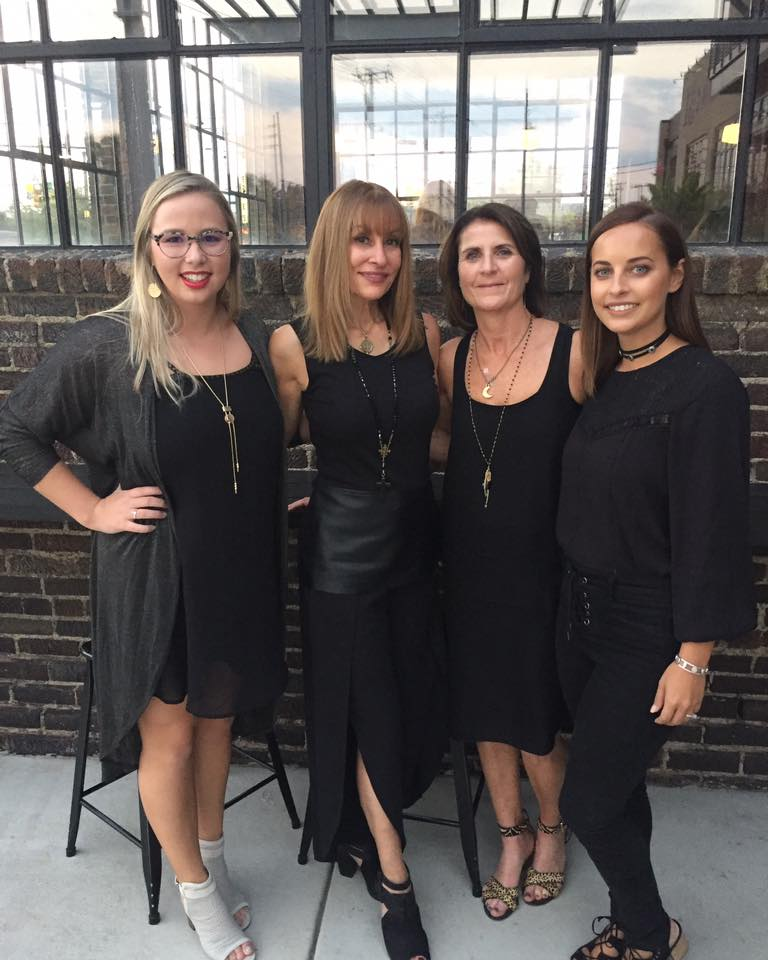 L-R  Alyssa, Stacey, Laura & Ginger at the Nashville Fashion Week Launch Party.