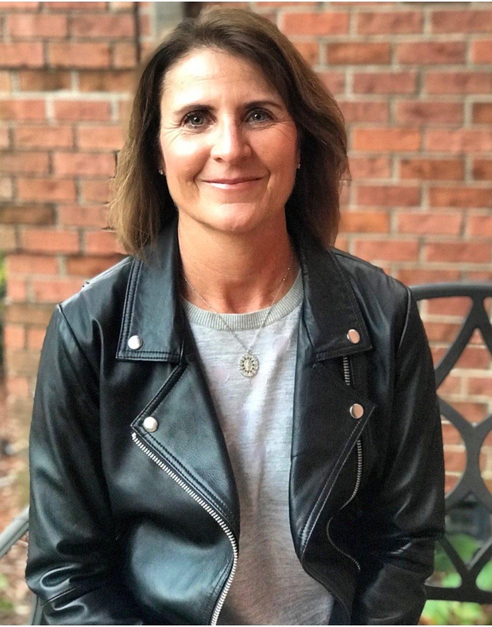 Laura is rocking her LA Made leather moto jacket and VSA necklace.