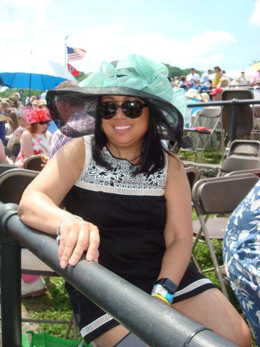 Steeplechase Black & Turquoise Hat.JPG